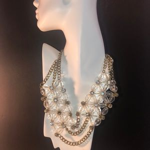 Large Beautiful Clear Necklace